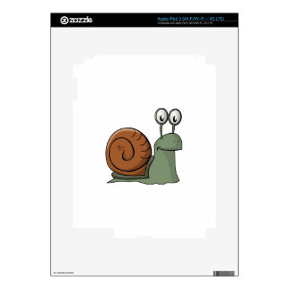 Green and Brown Cartoon Snail Decal For iPad 3
