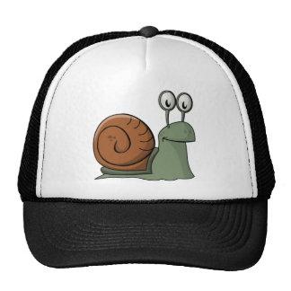 Green and Brown Cartoon Snail Trucker Hat