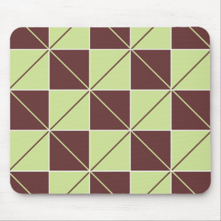 Green and Brown Checkerboard Argyle Mouse Pad