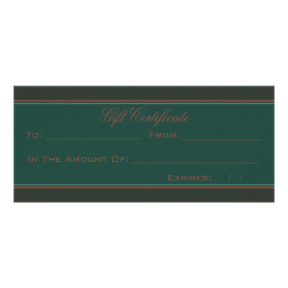 Green And Brown Heart Damask Rack Card Template