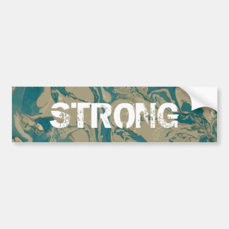 Green and brown Marble. Bumper Sticker