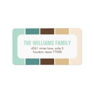 Green and Brown Modern Color Blocks Label