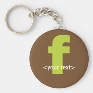 Green and Brown Monogram - Letter F Keychain