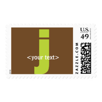 Green and Brown Monogram - Letter J Stamp