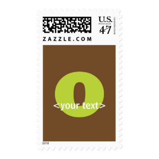 Green and Brown Monogram - Letter O Postage