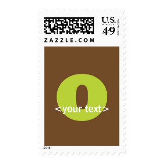 Green and Brown Monogram - Letter O Stamps