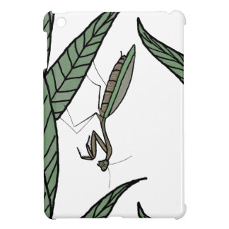 Green And Brown Praying Mantis On Green Leaves Cover For The iPad Mini