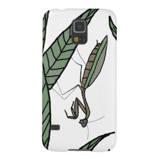 Green And Brown Praying Mantis On Green Leaves Galaxy S5 Covers