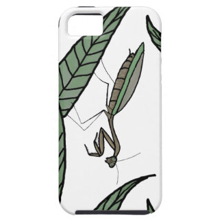 Green And Brown Praying Mantis On Green Leaves iPhone 5 Cases