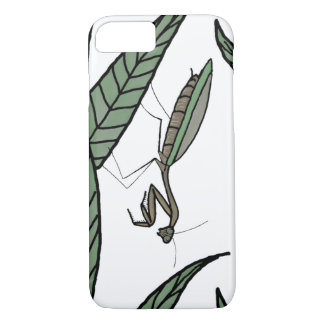 Green And Brown Praying Mantis On Green Leaves iPhone 8/7 Case