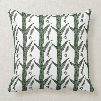Green And Brown Praying Mantis On Green Leaves Pillows