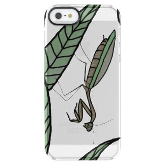 Green And Brown Praying Mantis On Green Leaves Uncommon Clearly™ Deflector iPhone 5 Case