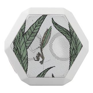 Green And Brown Praying Mantis On Green Leaves White Boombot Rex Bluetooth Speaker