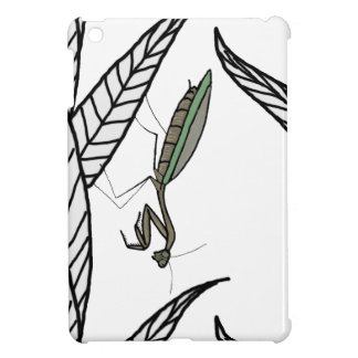 Green And Brown Praying Mantis On Leaves Cover For The iPad Mini