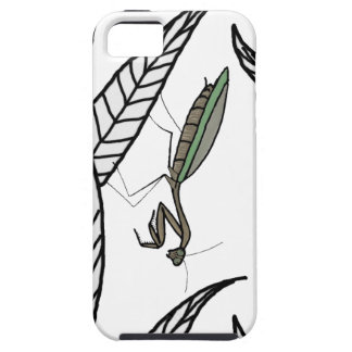 Green And Brown Praying Mantis On Leaves iPhone 5 Cases