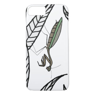 Green And Brown Praying Mantis On Leaves iPhone 8/7 Case