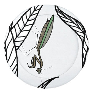 Green And Brown Praying Mantis On Leaves Pack Of Large Button Covers