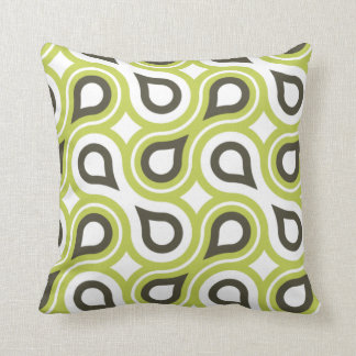 Green and brown shape pattern Decorative Pillow