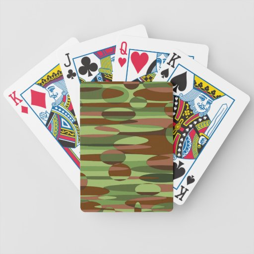 Green and Brown Spheres Poker Deck