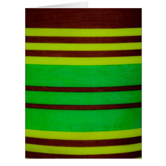 Green and brown stripes card
