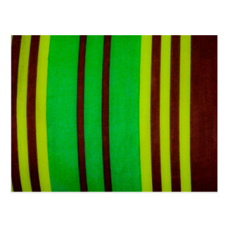 Green and brown stripes postcard