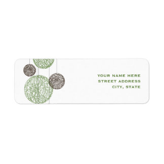 Green And Brown Twine Globes Address Label