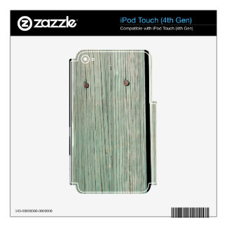 Green and Brown Wood Plank Walkway iPod Touch 4G Decals