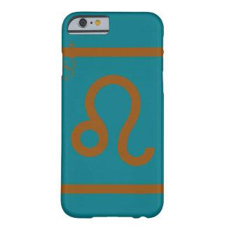 Green and brown zodiac leo phone case