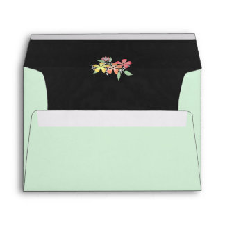 Green and Chalkboard Gray Wedding Envelope