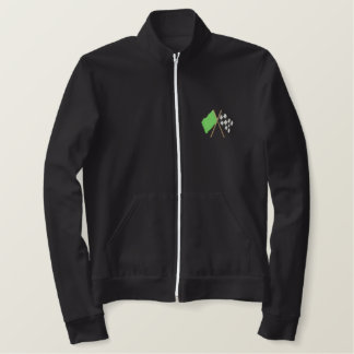 Green and Checkered Flag Embroidered Jacket