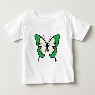 Green and Cream Butterfly Baby T-Shirt