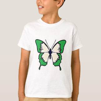 Green and Cream Butterfly T-Shirt