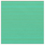[ Thumbnail: Green and Cyan Colored Lines Pattern Fabric ]