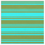 [ Thumbnail: Green and Cyan Pattern Fabric ]