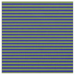 [ Thumbnail: Green and Dark Blue Striped/Lined Pattern Fabric ]