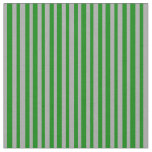 [ Thumbnail: Green and Dark Gray Colored Striped/Lined Pattern Fabric ]