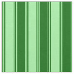 [ Thumbnail: Green and Dark Green Colored Pattern Fabric ]