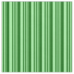 [ Thumbnail: Green and Dark Green Colored Pattern of Stripes Fabric ]