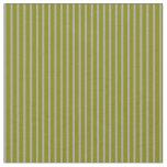 [ Thumbnail: Green and Dark Grey Lines Pattern Fabric ]