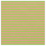 [ Thumbnail: Green and Dark Salmon Colored Pattern Fabric ]