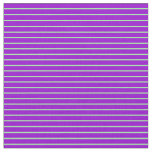 [ Thumbnail: Green and Dark Violet Striped/Lined Pattern Fabric ]