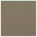 [ Thumbnail: Green and Deep Pink Lined Pattern Fabric ]