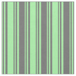 [ Thumbnail: Green and Dim Grey Colored Striped/Lined Pattern Fabric ]