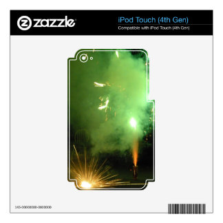 Green and Flash iPod Touch 4G Skin