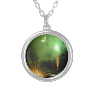 Green and Flash Silver Plated Necklace