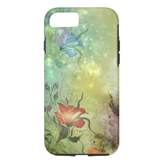 Green and Floral iPhone 7 case (Vibe Case)
