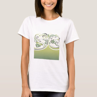 Green and Floral T-Shirt