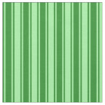 [ Thumbnail: Green and Forest Green Striped/Lined Pattern Fabric ]