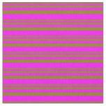[ Thumbnail: Green and Fuchsia Colored Lined/Striped Pattern Fabric ]