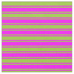 [ Thumbnail: Green and Fuchsia Colored Pattern Fabric ]